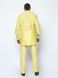 Designed Neck Kaftan Yellow