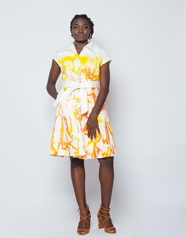Dyed Jackard Shirt Dress