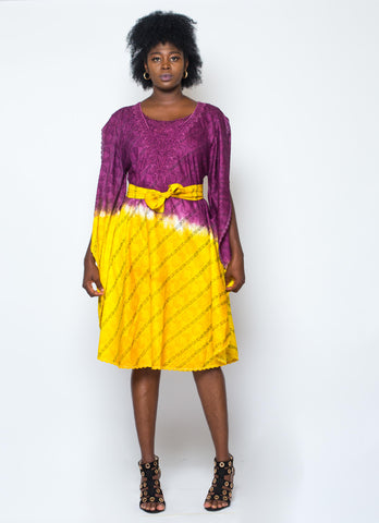 Dyed Voil Patapata Dress