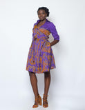 Dyed Jackard Dress