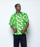 African print shirts short sleeves