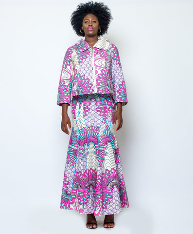 Waxprint Long Skirt and Jacket