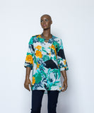 Ladies Tops - Flowered Voil Ladies Top