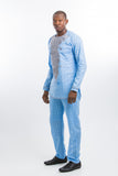 Master View Front Design Kaftan Light Blue