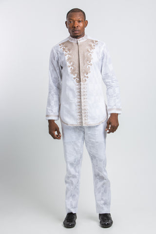 Front Design Long Sleeve Kaftan Royal