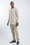 Button Design Kaftan  Beige