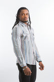 Crossed Shirt -Striped Grey