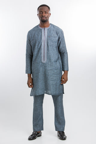 Professional Linen Kaftan Dark Grey