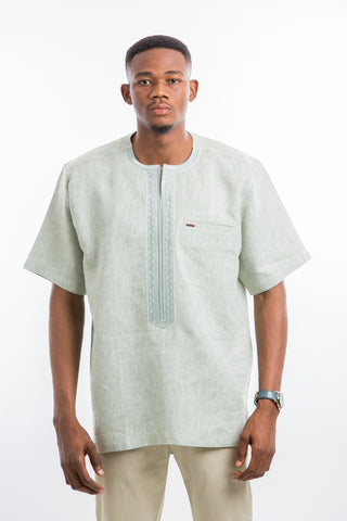 Stable Embroidered Linen Shirt