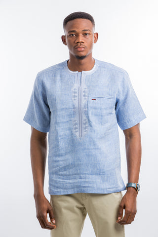 Blue wind Embroidered Shirt