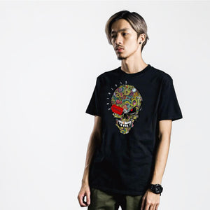 Solly Skull Black T-shirt W/ Metallic Glitter