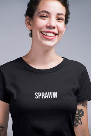 Spraww Black Clásico Women's T-Shirt