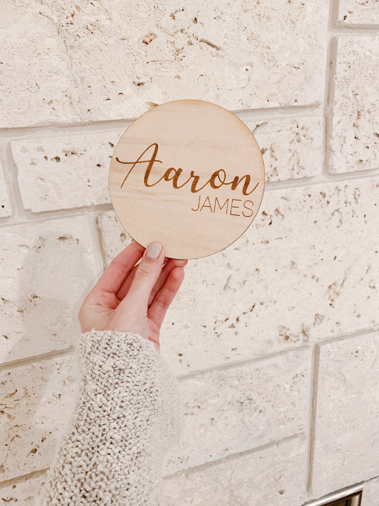 LARGE NAME WOODEN PLAQUE