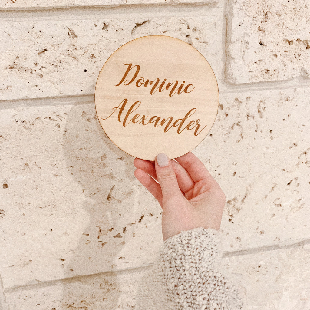 WOODEN NAME PLAQUE