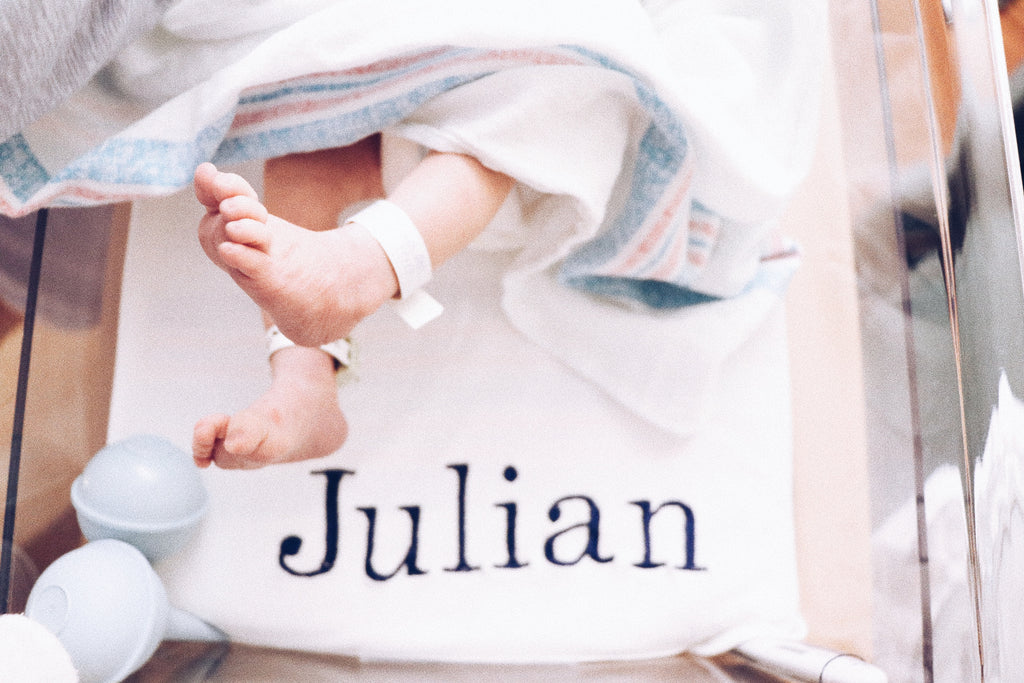 PERSONALIZED RECEIVING BLANKET