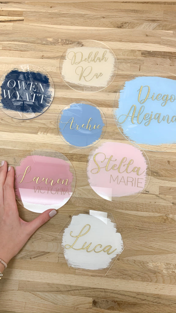 ACRYLIC NAME PLAQUE