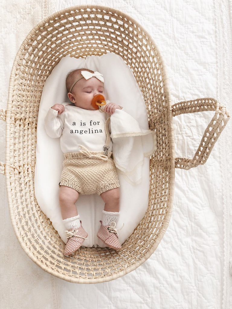 PERSONALIZED ALPHABET ONESIE