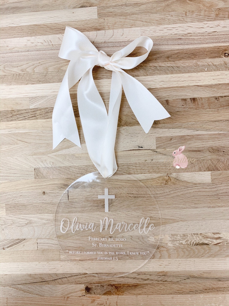 BAPTISM / FIRST COMMUNION ARYLIC PLAQUE