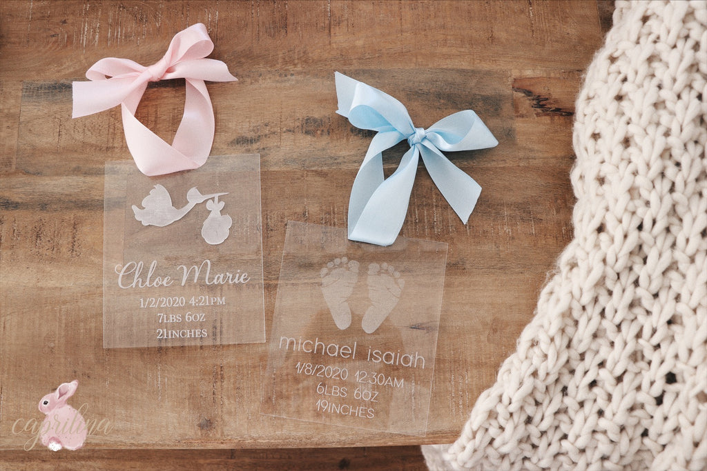 ACRYLIC BIRTH PLAQUE