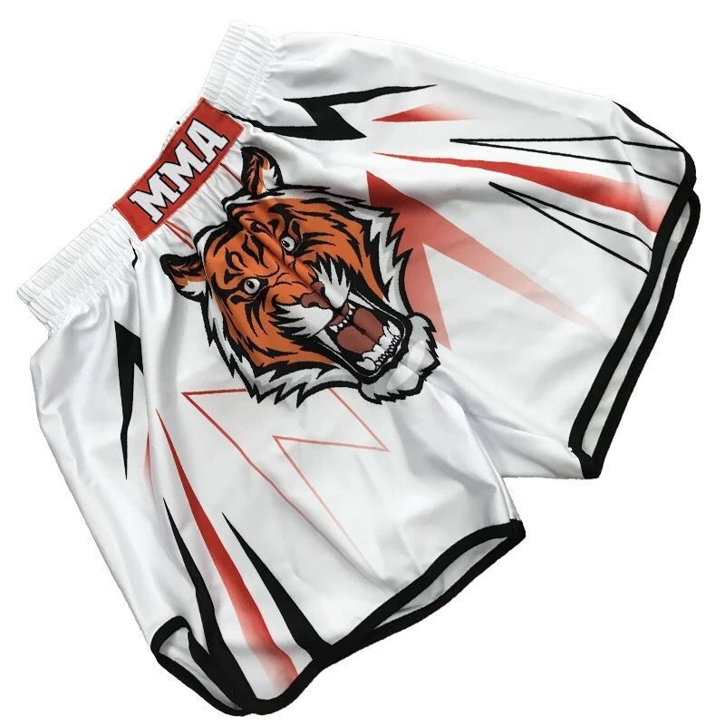 Tiger print kick boxing shorts