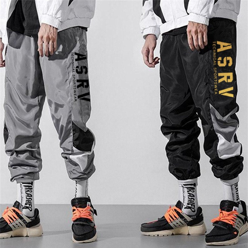 Joggers with side golden letter print