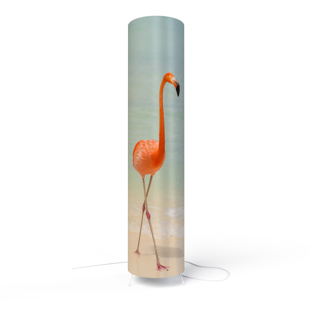 Modern Lamp designed by Fotbee with image of flamingo on the beach