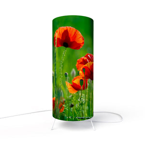 Modern Lamp designed by Fotbee with image of poppies flowers