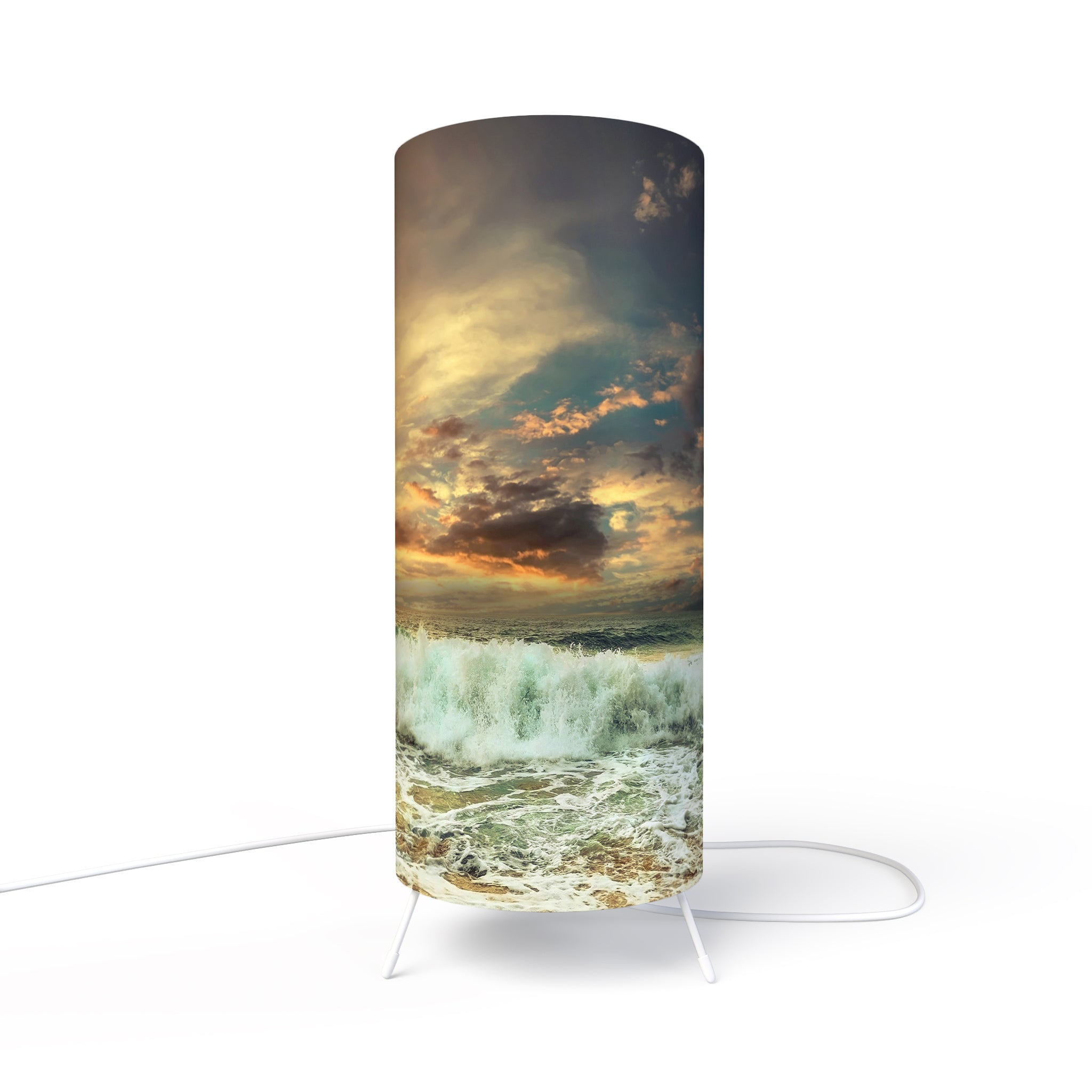 Modern Lamp designed by Fotbee with image of ocean sunset