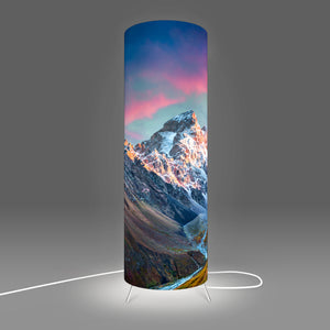 Modern Lamp designed by Fotbee with image of mountains sunrise