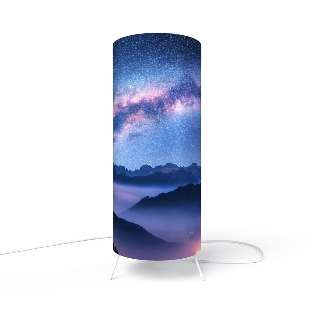 Modern Lamp designed by Fotbee with image of the Milky Way and mountains