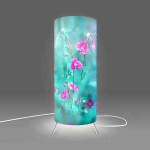 Modern Lamp designed by Fotbee with image of purpure flowers