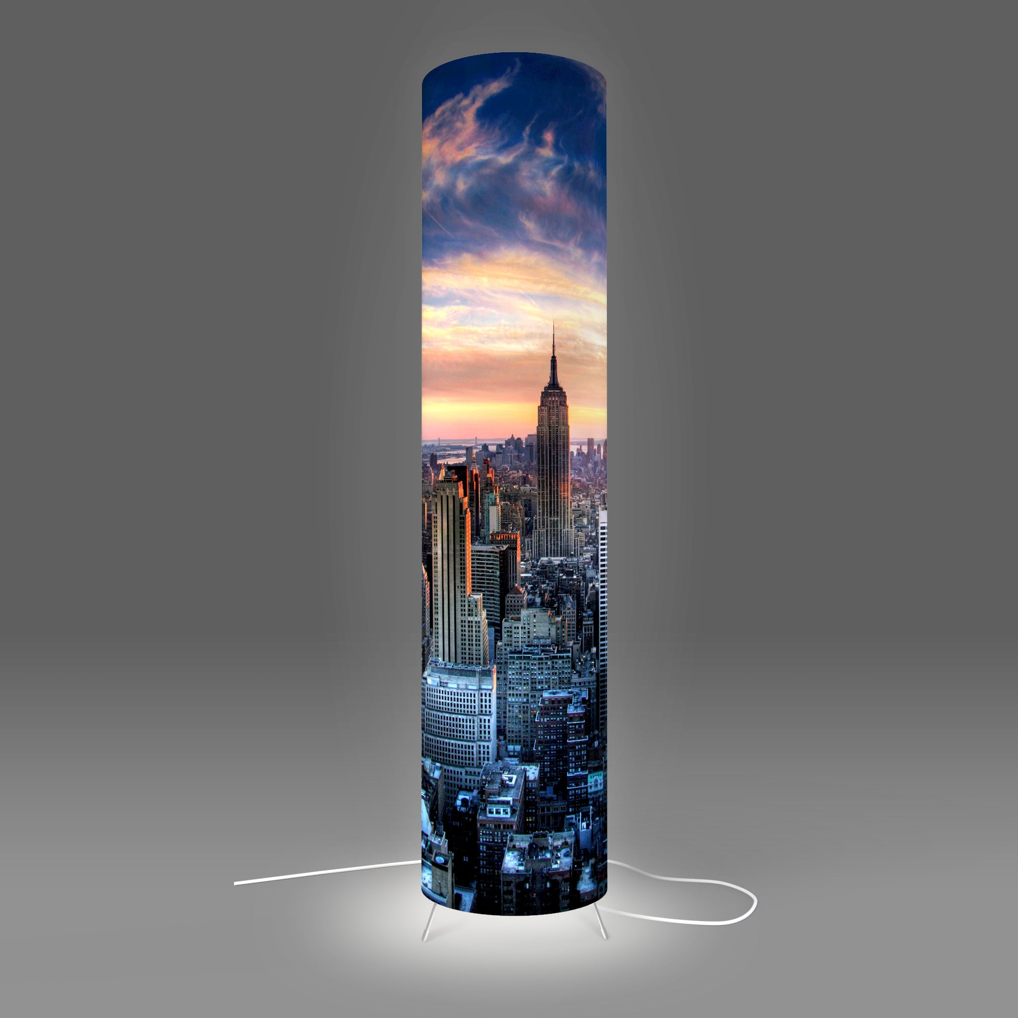 Modern Photo Lamp designed by Fotbee with image of Manhattan, New York