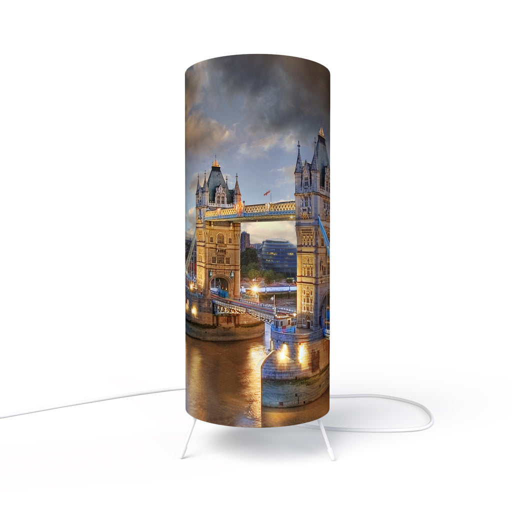 Modern Lamp designed by Fotbee with image of the Tower Bridge in London