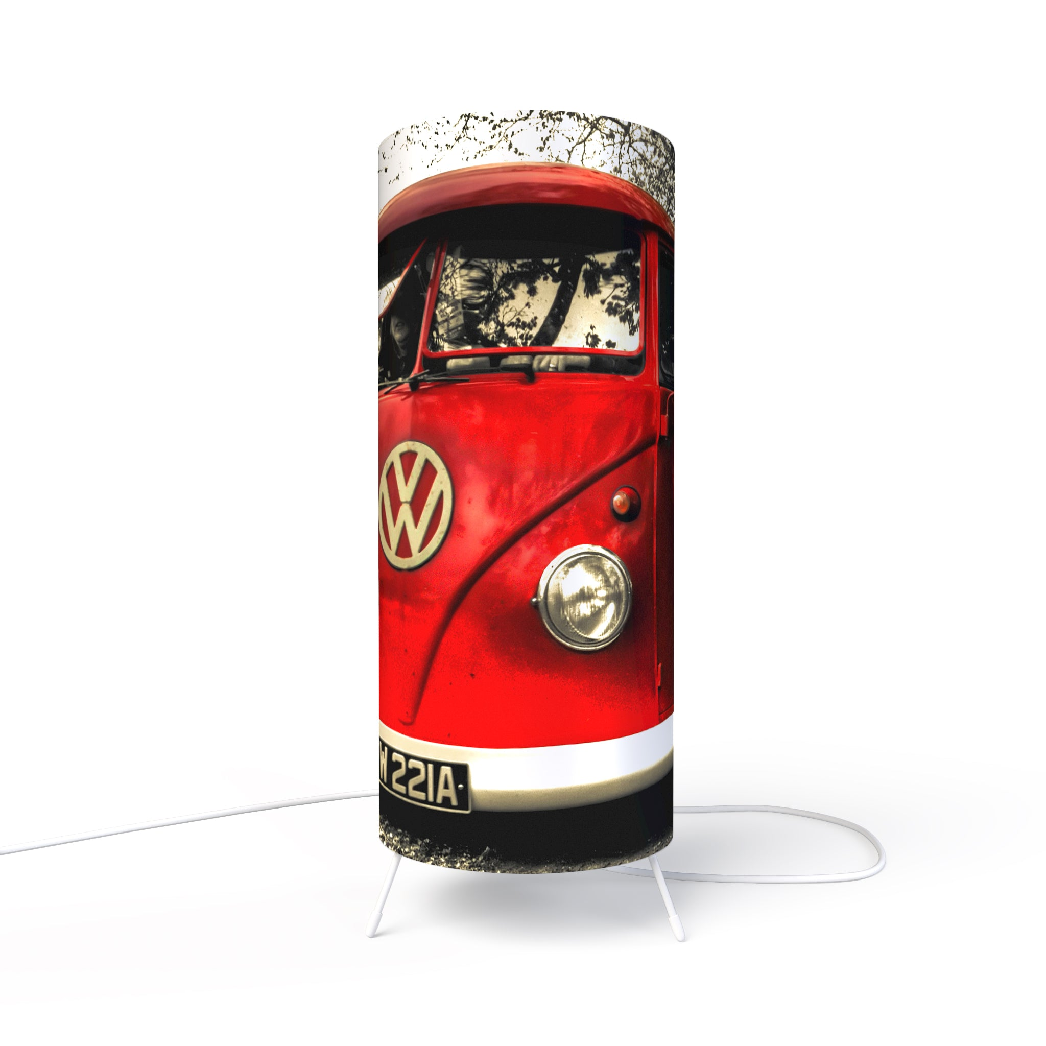 Fotbee table lamp with picture of Volkswagen by Steve Moss