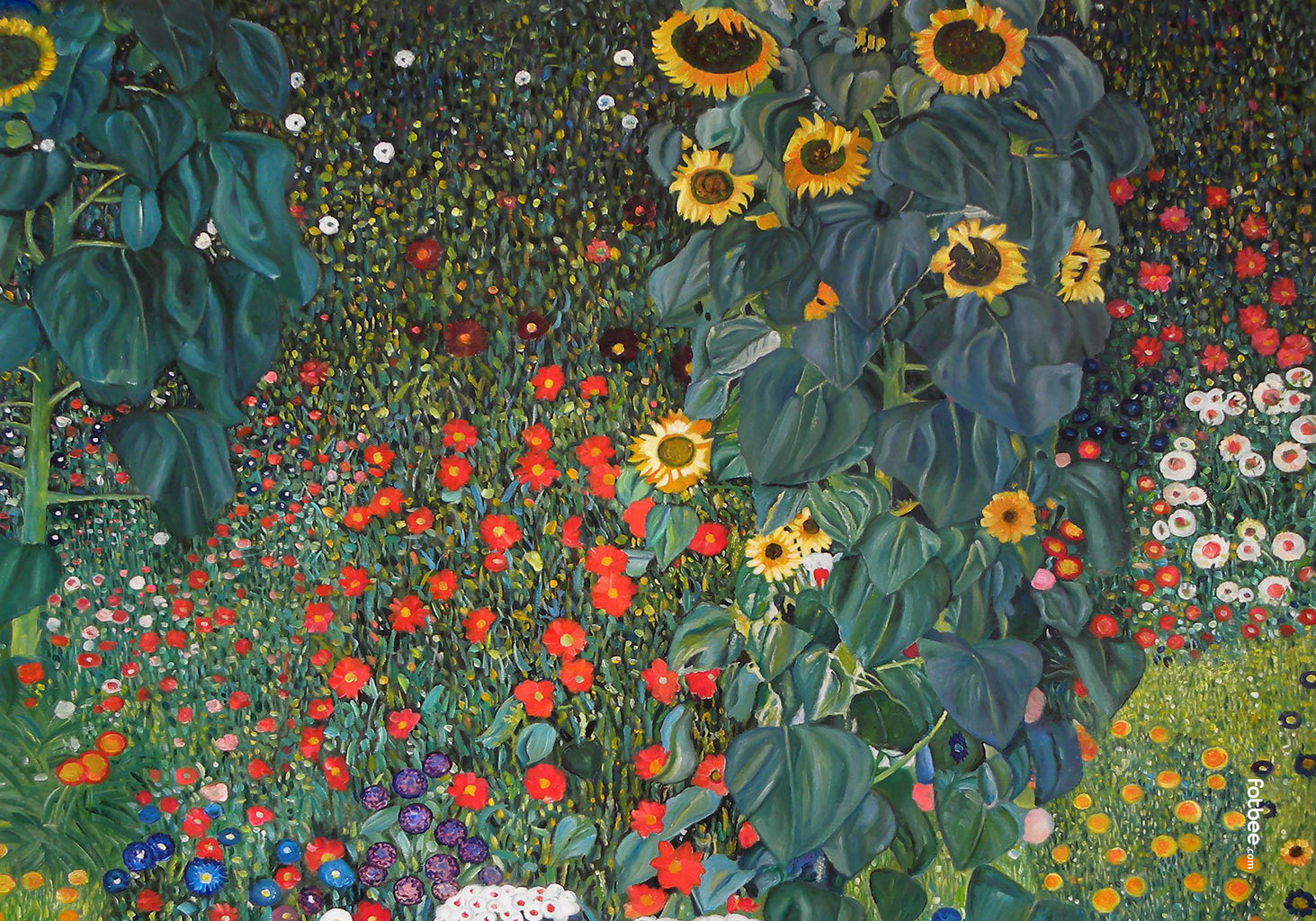 Gustav Klimt - Garden with Sunflowers