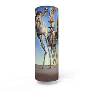 Fotbee table lamp with art by Salvador Dali