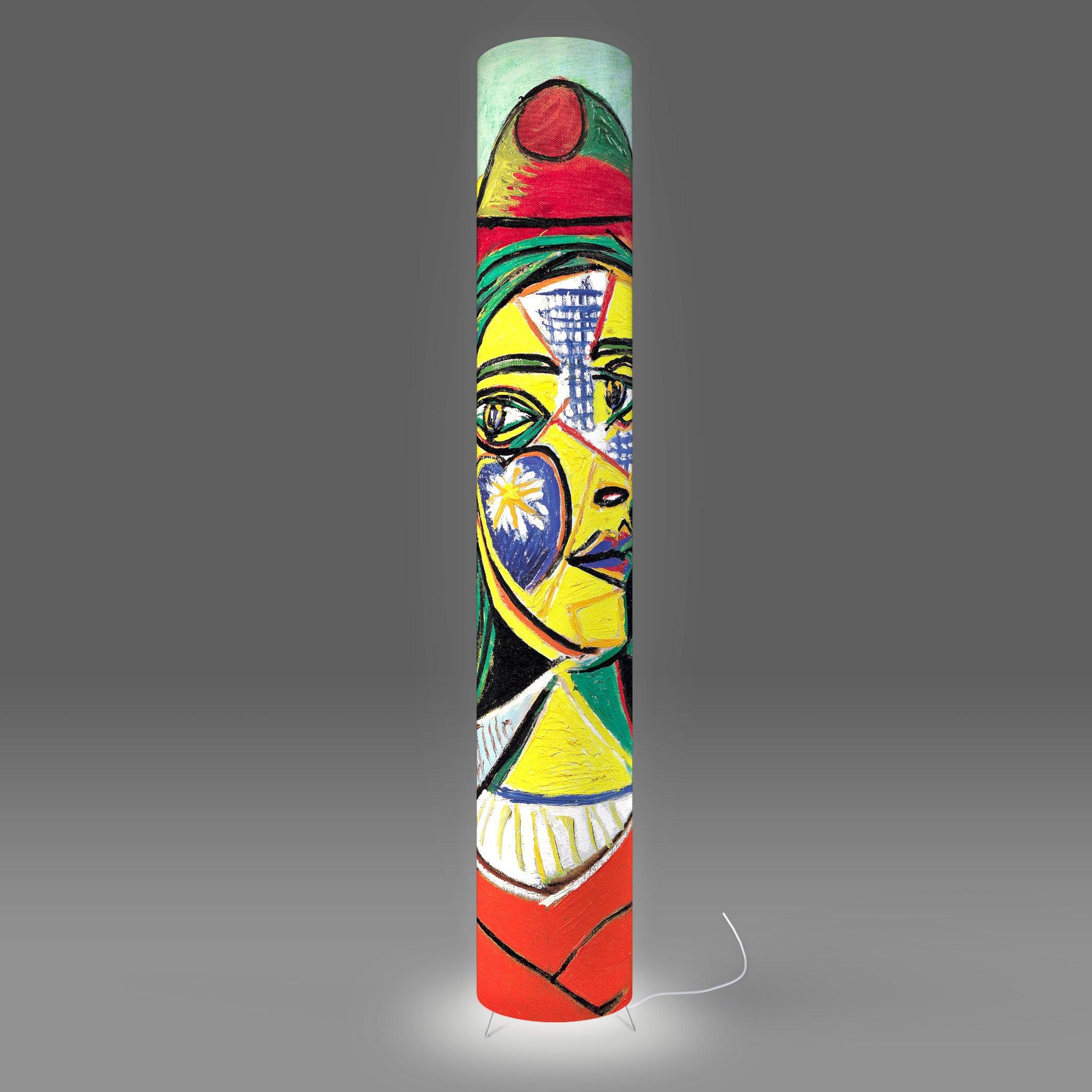 Fotbee floor lamp with art by Pablo Picasso