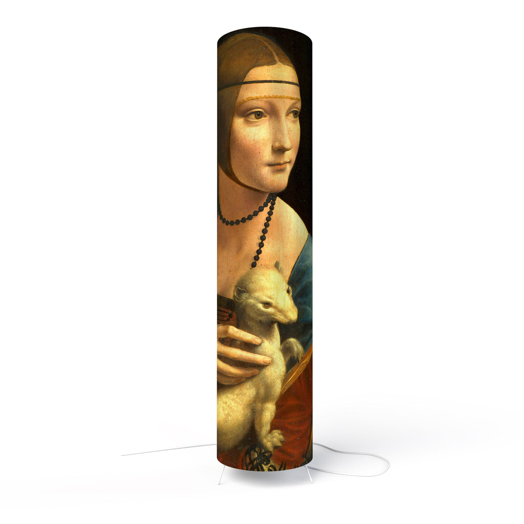 Fotbee table lamp with art by Leonardo da Vinci