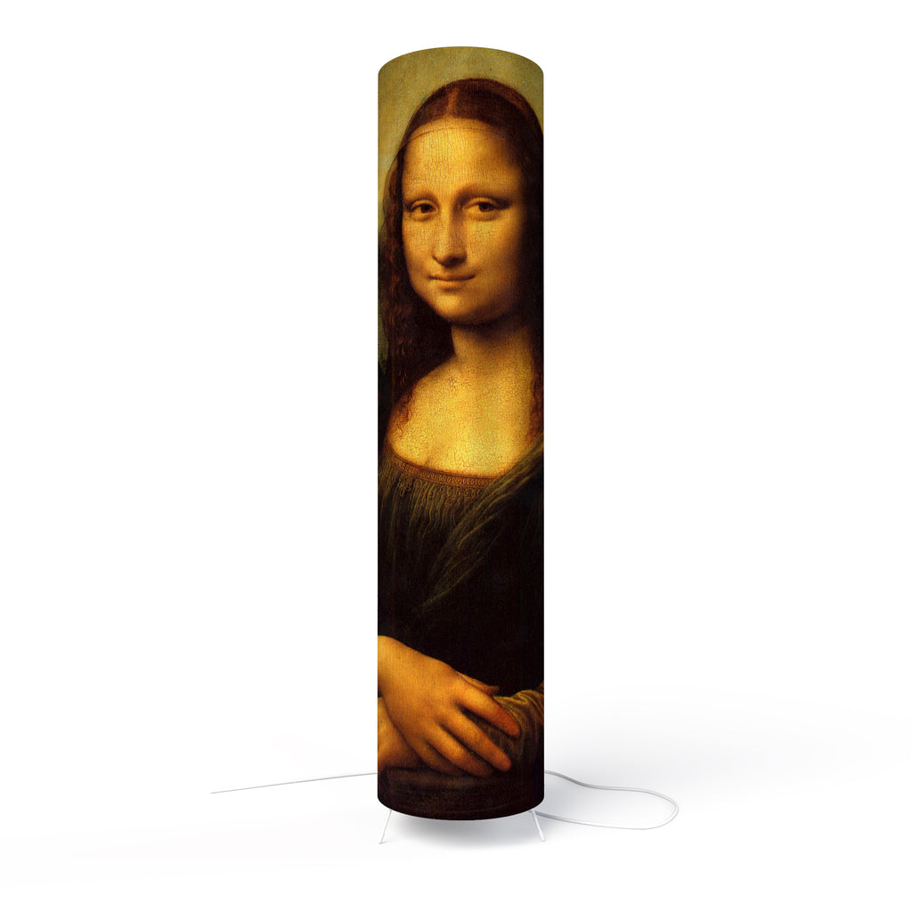 Fotbee table lamp with art by Leonardo da Vinci - Mona Lisa