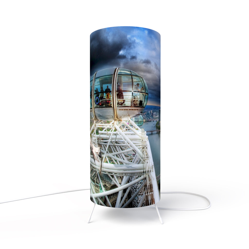 Modern Lamp designed by Fotbee with image of the London Eye capsule top view
