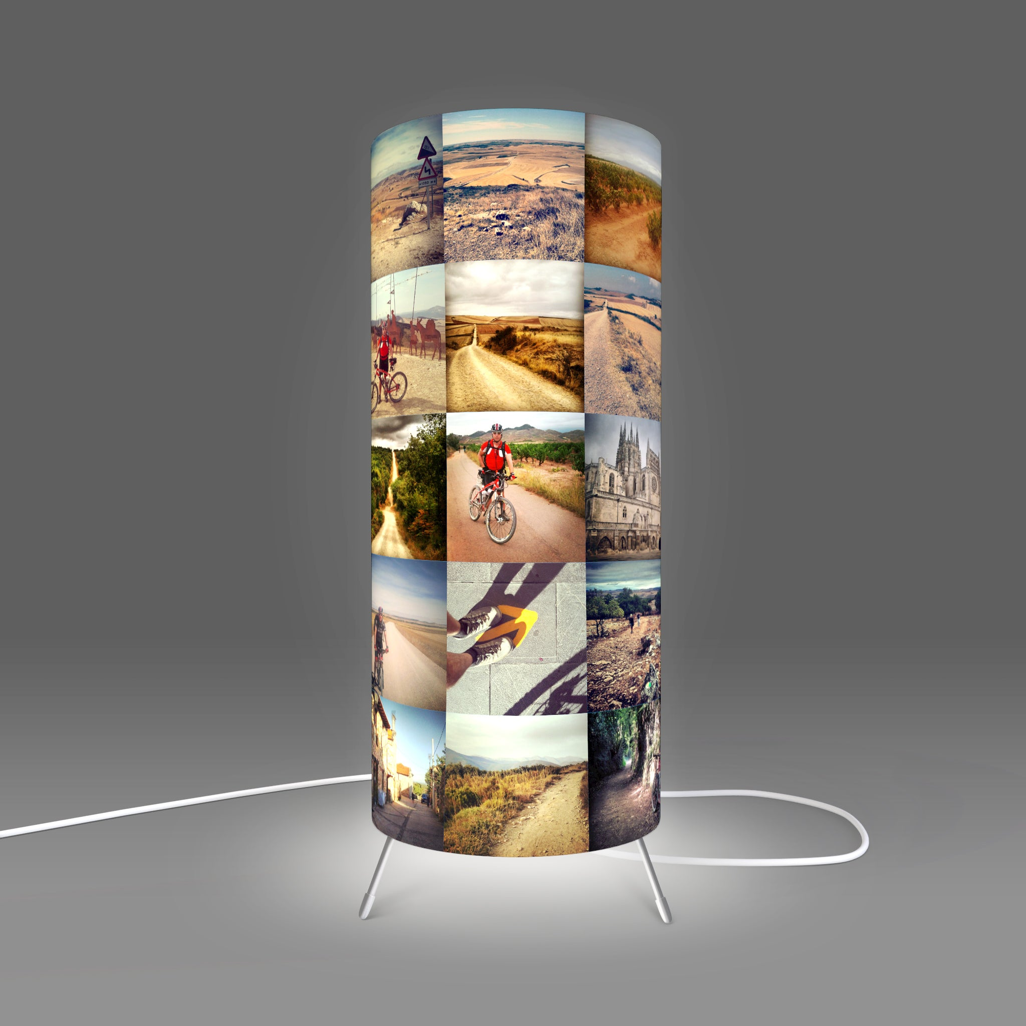 Personalised Table Lamp with Instagram images designed by Fotbee