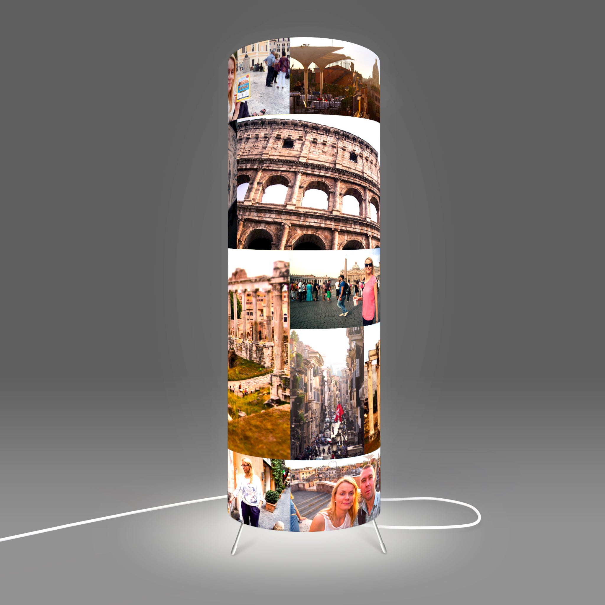 Personalised Table Lamp with print images designed by Fotbee