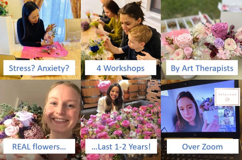 4 workshops designed by art therapists