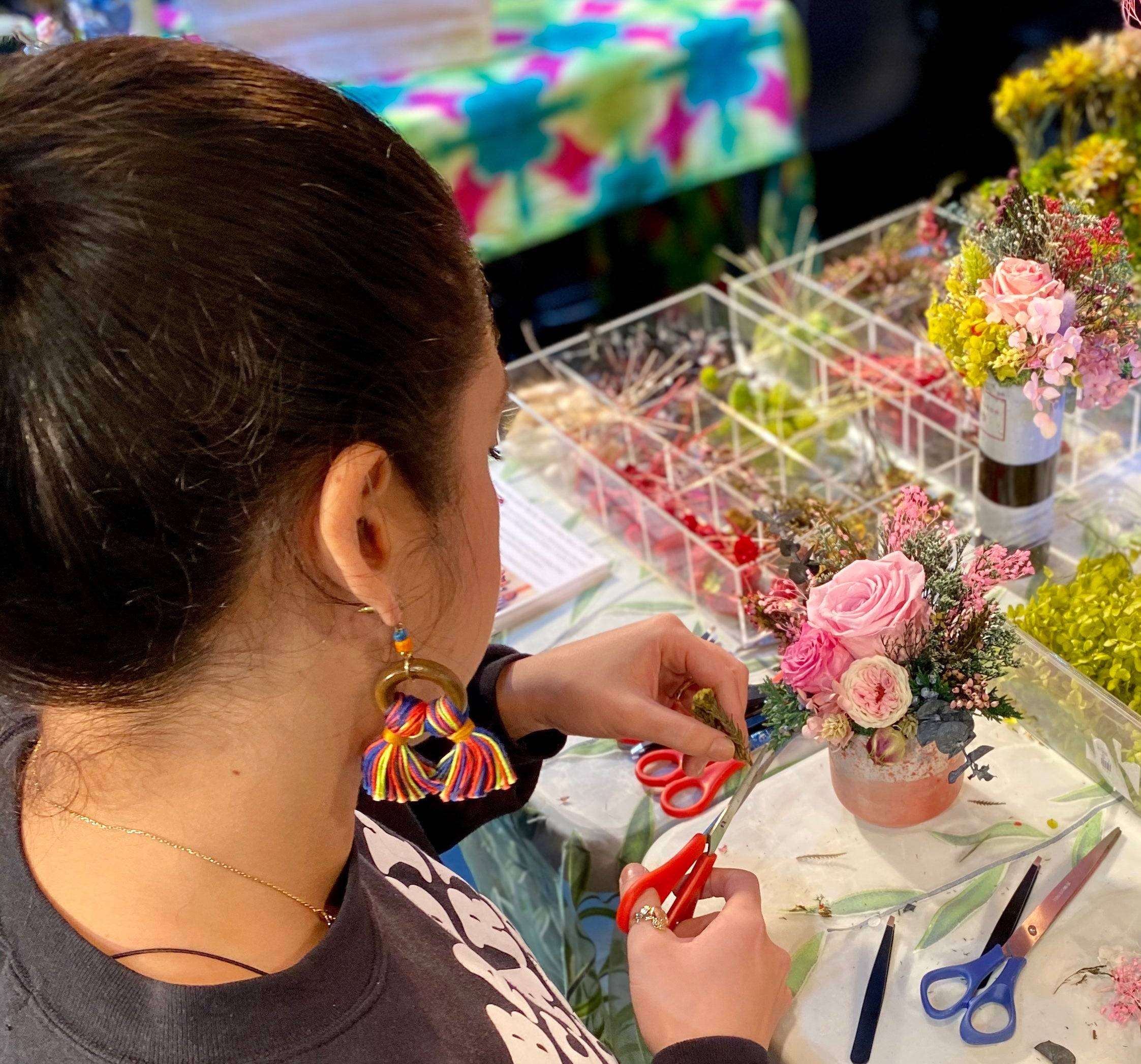 Donate a floral arrangement workshop to a cancer patient at Mt. Sinai Hospital - Emma vase (standard size)