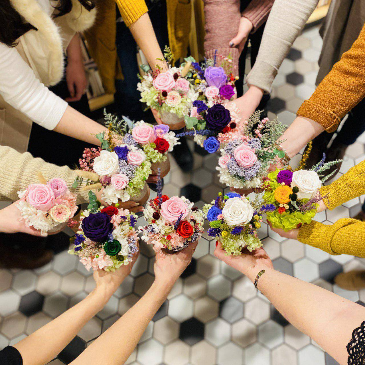 2021.1.22 Global Gross Margin and Inventory Team Flower Arranging Workshop
