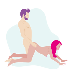 Couple doing Doggystyle which helps with climaxing together