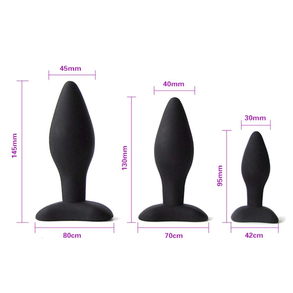 Classic Silicone Butt Plug Set (3 Piece) - Room Privée™