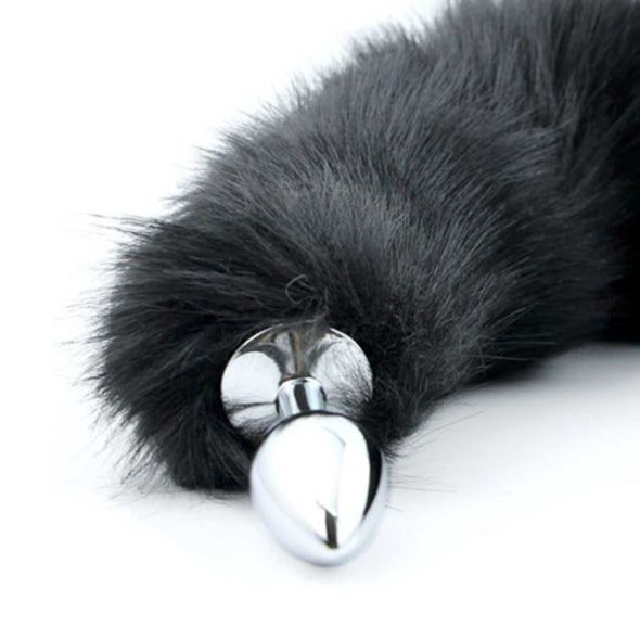 Deluxe Stainless-Steel Faux Fur Animal Tail Butt Plug - ROOM PRIVÉE - Room Privée™