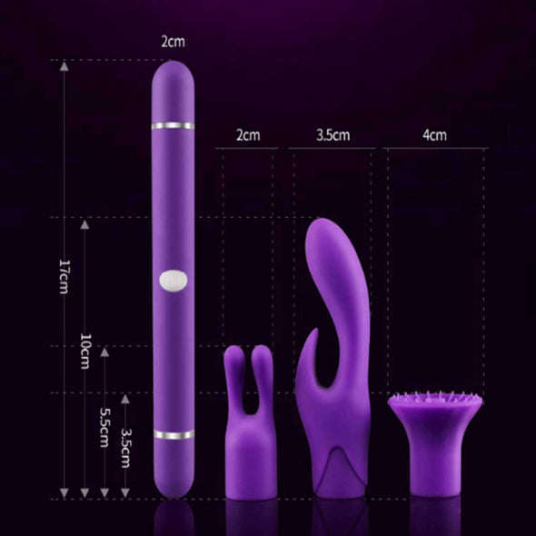 Luxury G-spot Vibrator with Changeable Heads - ROOM PRIVÉE - Room Privée™