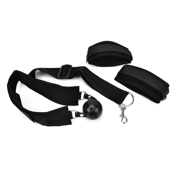 Bondage Soft Wrist to Collar Restraint with Ball Gag - Room Privée™